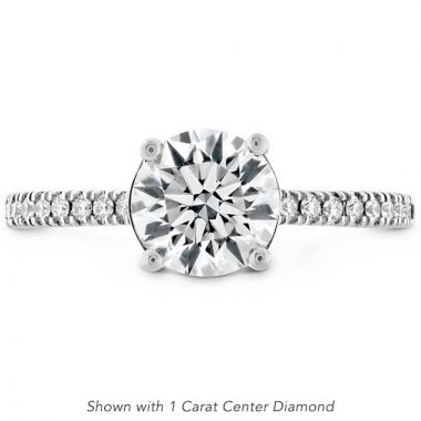 Hearts on Fire Platinum Sloane Straight Engagement Ring