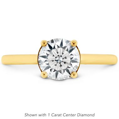 Hearts on Fire 0.01 ctw. Sloane Silhouette Engagement Ring in 18K Yellow Gold