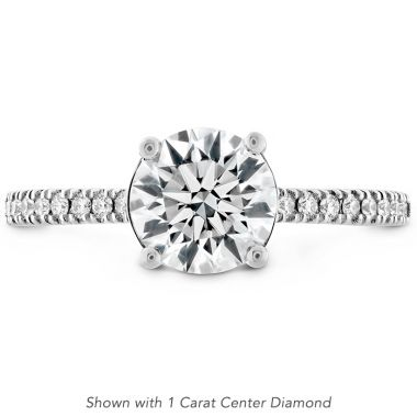 Hearts on Fire 0.18 ctw. Sloane Silhouette Engagement Ring Diamond Band in 18K White Gold