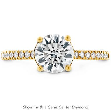 Hearts on Fire 0.18 ctw. Sloane Silhouette Engagement Ring Diamond Band in 18K Yellow Gold