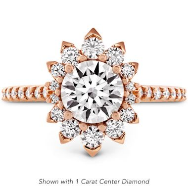Hearts on Fire 0.97 ctw. Behati Say It Your Way Oval Engagement Ring in 18K Rose Gold