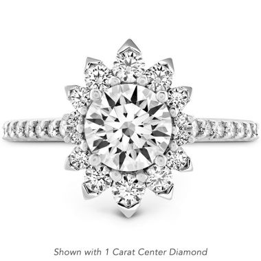 Hearts on Fire 0.84 ctw. Behati Say It Your Way Oval Engagement Ring in 18K White Gold