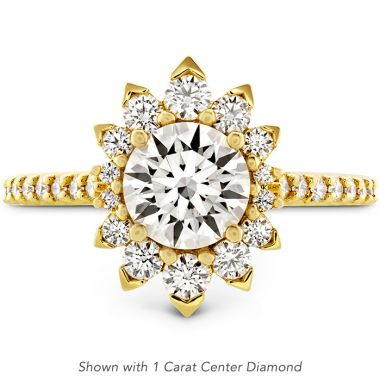 Hearts on Fire 0.84 ctw. Behati Say It Your Way Oval Engagement Ring in 18K Yellow Gold