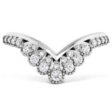 Hearts on Fire 0.23 ctw. Behati Silhouette Power Band in 18K White Gold