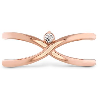 Hearts on Fire 0.03 ctw. Love Code - Love Wrap Band in 18K Rose Gold
