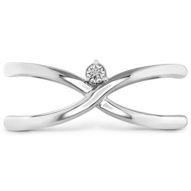 Hearts on Fire 0.03 ctw. Love Code - Love Wrap Band in 18K White Gold