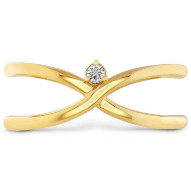 Hearts on Fire 0.03 ctw. Love Code - Love Wrap Band in 18K Yellow Gold