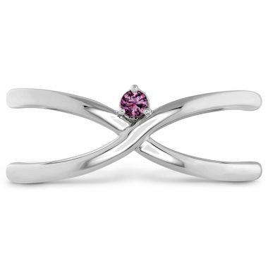 Hearts on Fire Love Code - Love Wrap Band with Sapphires in 18K White Gold