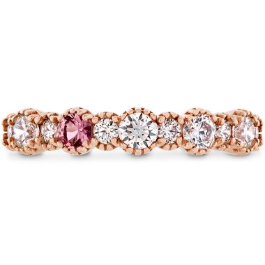 Hearts on Fire 0.57 ctw. Behati Beaded Band with Sapphires in 18K Rose Gold