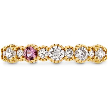 Hearts on Fire 0.57 ctw. Behati Beaded Band with Sapphires in 18K Yellow Gold