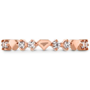 Hearts on Fire 0.21 ctw. Behati Bold Shapes Band in 18K Rose Gold
