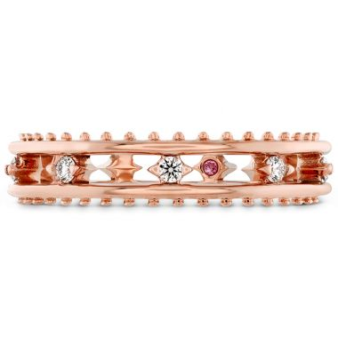Hearts on Fire 0.13 ctw. Sloane Picot Floating Diamond Band in 18K Rose Gold