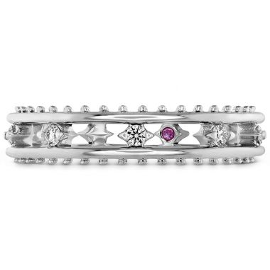 Hearts on Fire 0.14 ctw. Sloane Picot Floating Diamond Band in 18K White Gold