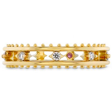 Hearts on Fire 0.14 ctw. Sloane Picot Floating Diamond Band in 18K Yellow Gold