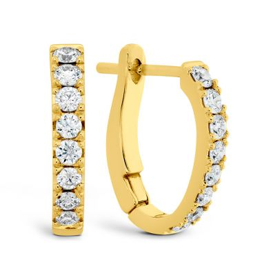 Hearts on Fire 0.3 ctw. Mini Hoop Graduated Earrings in 18K Yellow Gold