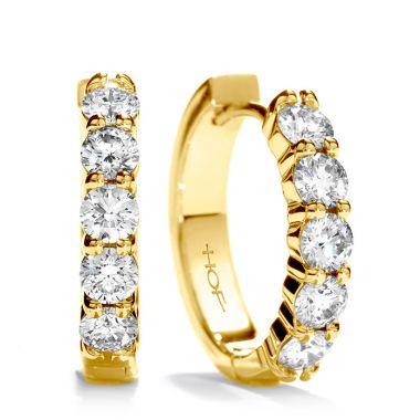Hearts on Fire 0.95 ctw. Small Mini Hoop Earrings in 18K Yellow Gold