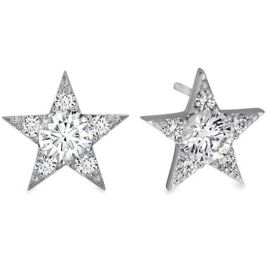 Hearts on Fire 1.3 ctw. Illa Cluster Stud Earrings in 18K White Gold