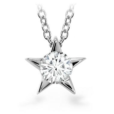 Hearts on Fire 0.15 ctw. Illa Pendant Necklace in 18K White Gold