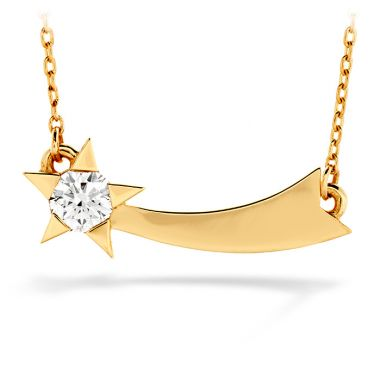 Hearts on Fire 0.15 ctw. Illa Single Diamond Comet Necklace in 18K White Gold