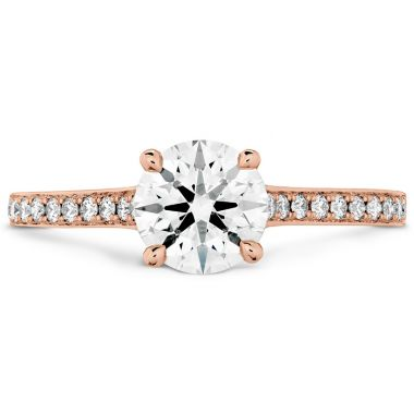 Hearts on Fire 0.5 ctw. Illustrious Engagement Ring-Diamond Intensive Band in 18K Rose Gold