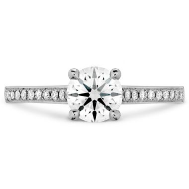 Hearts on Fire 0.15 ctw. Illustrious Engagement Ring-Diamond Band in 18K White Gold
