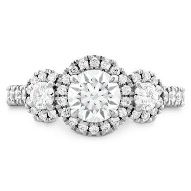 Hearts on Fire 1.1 ctw. Integrity HOF Three Stone Engagement Ring in 18K White Gold