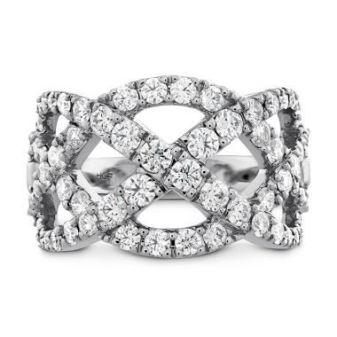 Hearts on Fire 1.5 ctw. Intertwining Diamond Right Hand Ring in 18K White Gold