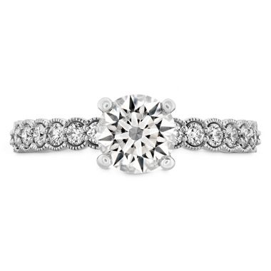 Hearts on Fire 0.35 ctw. Isabelle Milgrain Engagement Ring in 18K White Gold