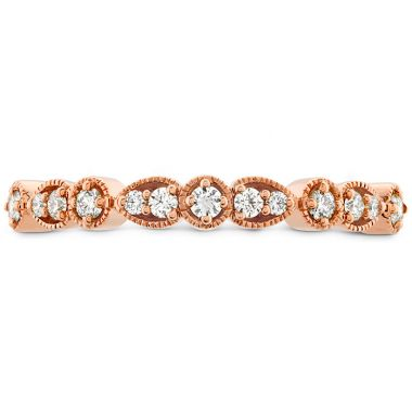Hearts on Fire 0.18 ctw. Isabelle Teardrop Milgrain Diamond Band in 18K Rose Gold