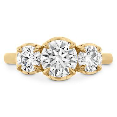Hearts on Fire 0.29 ctw. Juliette HOF Three Stone Semi-Mount in 18K Yellow Gold
