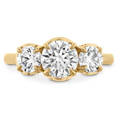 Hearts on Fire 0.77 ctw. Juliette HOF Three Stone Semi-Mount in 18K Yellow Gold