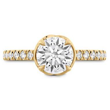 Hearts on Fire 0.21 ctw. Juliette Diamond Band Semi-Mount in 18K Yellow Gold