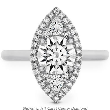 Hearts on Fire 0.18 ctw. Juliette Marquise Halo Engagement Ring in 18K White Gold