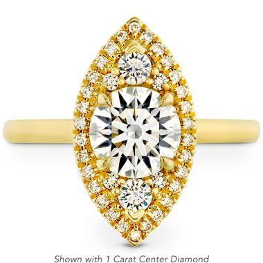 Hearts on Fire 0.21 ctw. Juliette Marquise Halo Engagement Ring in 18K Yellow Gold