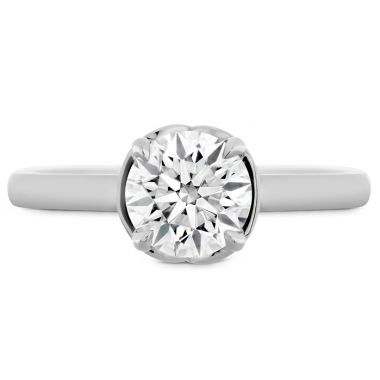 Hearts on Fire Juliette Solitaire Semi-Mount in 18K White Gold