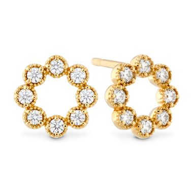 Hearts on Fire 0.32 ctw. Liliana Milgrain Diamond Circle Earrings in 18K Yellow Gold