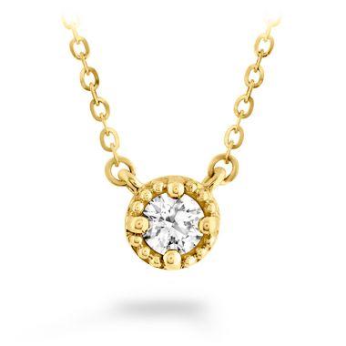 Hearts on Fire 0.23 ctw. Liliana Milgrain Single Diamond Pendant in 18K Yellow Gold