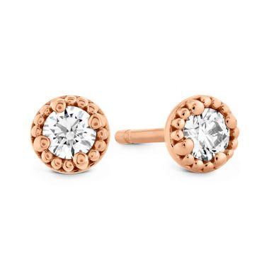 Hearts on Fire 1.05 ctw. Liliana Milgrain Single Diamond Stud Earrings in 18K Rose Gold