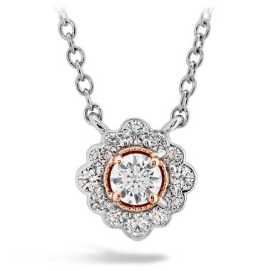 Hearts on Fire 0.28 ctw. Liliana Flower Pendant in 18K Rose Gold w/Platinum