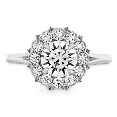 Hearts on Fire 0.4 ctw. Liliana Halo Engagement Ring in 18K White Gold