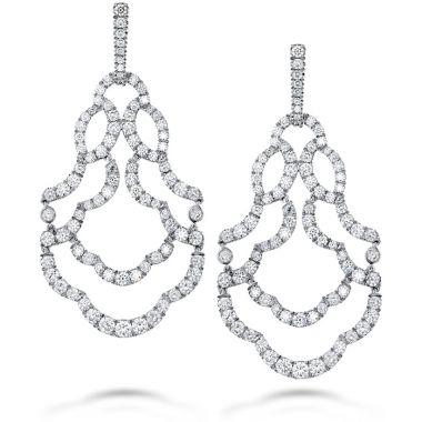 Hearts on Fire 6.5 ctw. Lorelei Chandelier Diamond Earrings in 18K White Gold