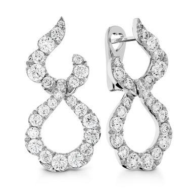Hearts on Fire 3.3 ctw. Lorelei Crescent Diamond Drop Earrings in 18K White Gold