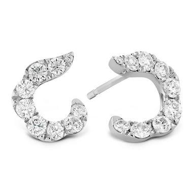 Hearts on Fire 1.15 ctw. Lorelei Crescent Diamond Earrings in 18K White Gold