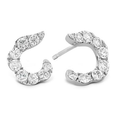 Hearts on Fire 1.15 ctw. Lorelei Crescent Diamond Earrings in 18K Yellow Gold