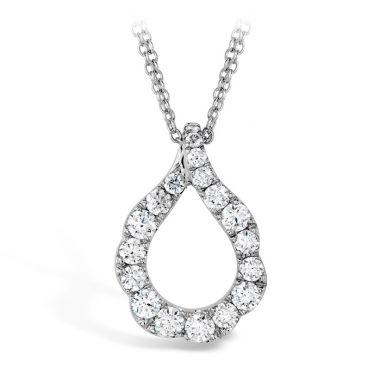 Hearts on Fire 1 ctw. Lorelei Crescent Diamond Pendant in 18K Rose Gold