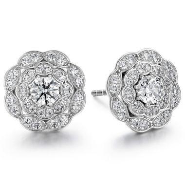 Hearts on Fire 0.7 ctw. Lorelei Double Halo Diamond Stud Earrings in 18K Rose Gold