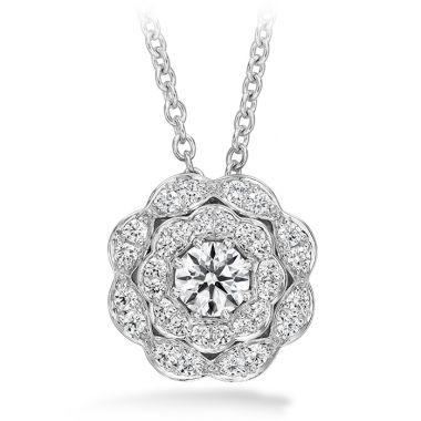 Hearts on Fire 0.35 ctw. Lorelei Double Halo Diamond Pendant in 18K White Gold