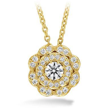 Hearts on Fire 0.35 ctw. Lorelei Double Halo Diamond Pendant in 18K Yellow Gold