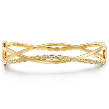 Hearts on Fire 0.8 ctw. Lorelei Floral Twist Bangle in 18K Yellow Gold