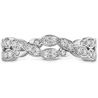 Hearts on Fire 0.4 ctw. Lorelei Floral Dia Double Twist Band in 18K White Gold